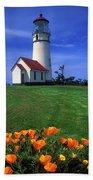 Cape Blanco Lighthouse Oregon Beach Towel