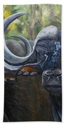 Cape Buffalo 2 Beach Towel