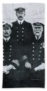 Captain And Officers Of The Titanic Beach Towel