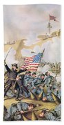 Capture Of Fort Fisher 15th January 1865 Beach Towel