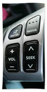Car Steering Mounted Music Player Buttons Beach Towel