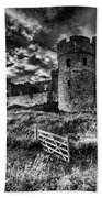 Carew Castle Pembrokeshire 4 Mono Beach Towel