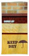 Cargo Crates Beach Towel