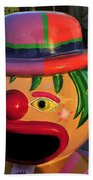 Carnival Clown Beach Towel