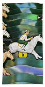 Carnival Horse Race Game Beach Towel