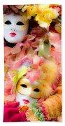 Carnival Mask Beach Towel