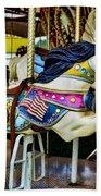 Carousel - Horse - Jumping Beach Towel