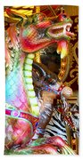 Carousel Dragon Beach Towel