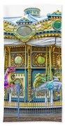 Carousel Ride In Pittsburgh Pennsylvania Beach Towel
