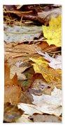 Carpet Of Leaves Beach Towel
