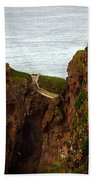 Carrick-a-rede Bridge II Beach Towel