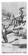 Cartoon: Election Of 1856 Beach Towel