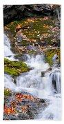 Cascades At Mingo Falls Beach Towel