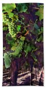 Cascading Grapes Beach Towel