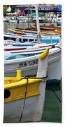 Cassis Boats Beach Towel by Brian Jannsen