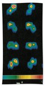 Castalia Asteroid Sequence, False-color Beach Towel by Science Source