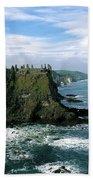 Castle At The Seaside, Dunluce Castle Beach Towel