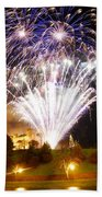 Castle Illuminations Beach Towel