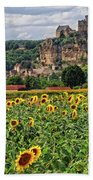 Castle In Dordogne Region France Beach Towel
