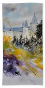 Castle Of Veves Belgium Beach Towel