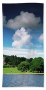 Castlewellan Castle & Lake, Co Down Beach Towel