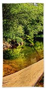 Castor River View Beach Towel