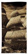 Catastrophic Collision-sepia Beach Towel