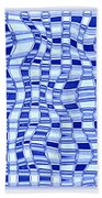 Catch A Wave - Blue Abstract Beach Towel