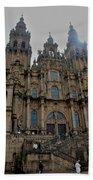 Cathedral At Santiago De Compostela Beach Towel