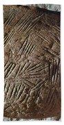 Cave Art: Incised Rock Beach Towel