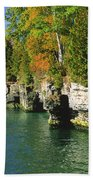 Cave Point Cove Beach Towel