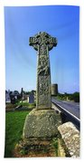Celtic High Cross At Drumcliff Beach Towel