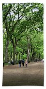 Central Park Arbor Walk Spring Beach Towel