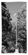 Central Park Flag In Black And White Beach Towel
