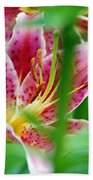 Central Park Lily Beach Towel