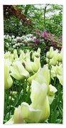 Central Park Tulips Beach Towel