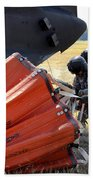 Ch-47 Chinook Helicopter Crew Prepare Beach Towel