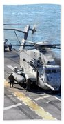 Ch-53e Super Stallion Helicopters Beach Towel