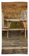 Wooden Chairs Beach Towel