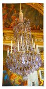 Chandelier At Versailles Beach Towel