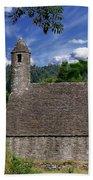 Chapel Of Saint Kevin At Glendalough Beach Towel