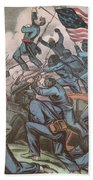 Charge Of The 54th Massachusetts Beach Towel