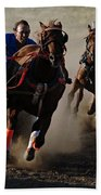 Rodeo Chariot Race Beach Towel