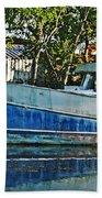 Chauvin La Blue Bayou Boat Beach Towel
