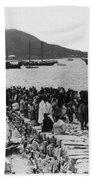 Chemulpo Harbor - Korea - 1903 Beach Towel