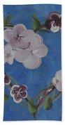 Cherry Blossom Heart Beach Towel