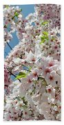 Cherry Blossoms Of The Sky Beach Towel