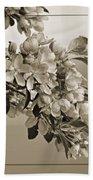 Cherry Blossoms Sepia Beach Towel