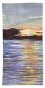 Chesapeake Dusk Boat Ride Beach Towel
