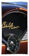 Chevrolet Belair Dashboard Clock And Emblem Beach Towel